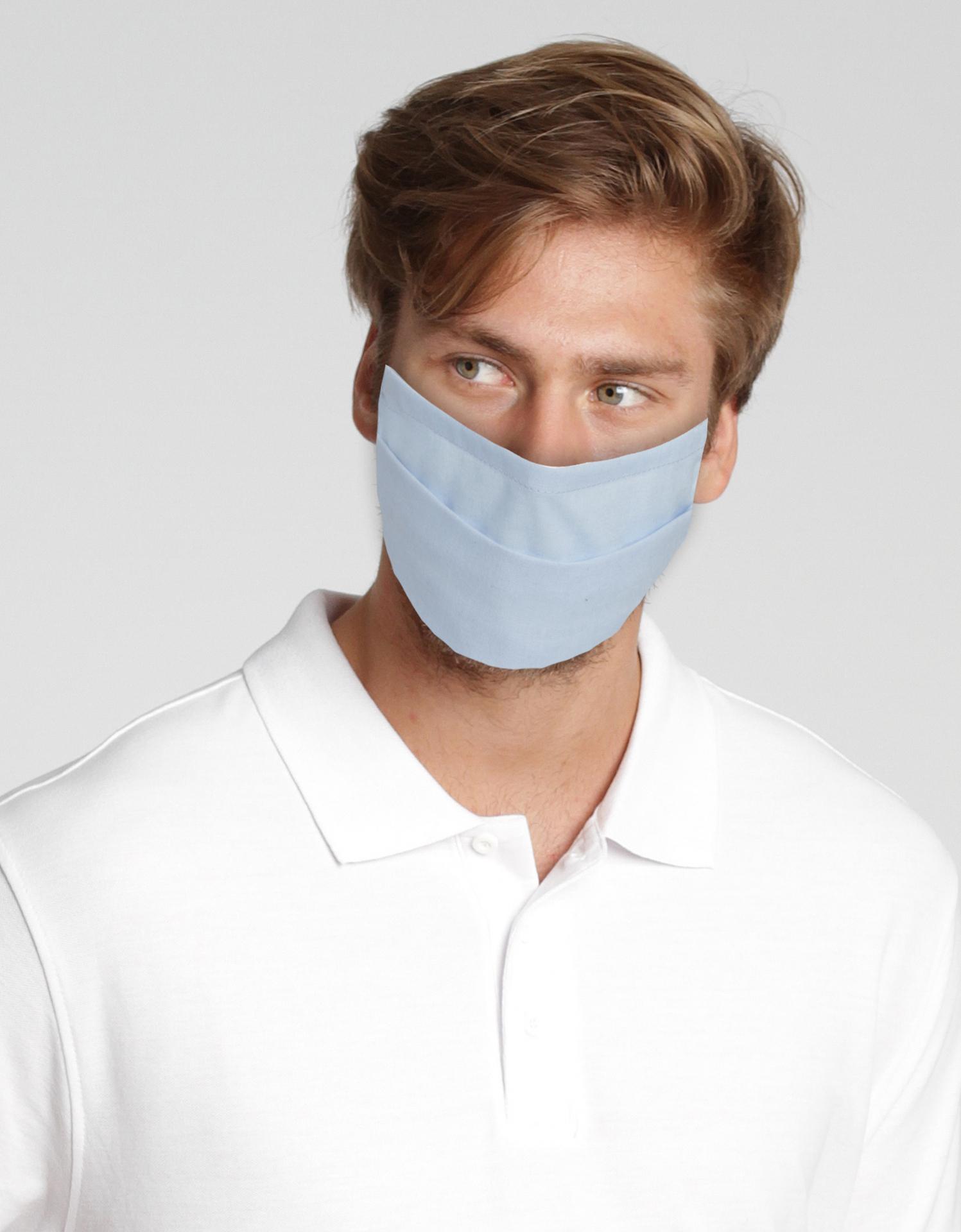 Wiederverwendbare Mund-Nasen-Maske - weiß