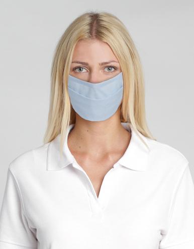 Wiederverwendbare Mund-Nasen-Maske - hellblau