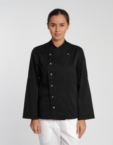 Damen Kochjacke Turin Classic - schwarz