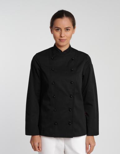 Damen Kochjacke Rimini Classic - schwarz