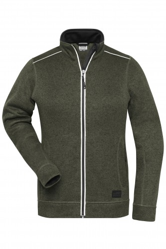Ladies Knitted Workwear Fleece Jacket - SOLID -