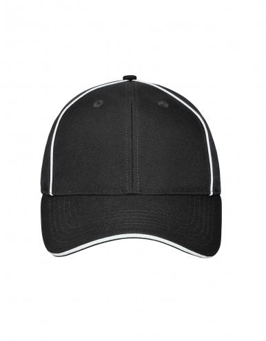 6 Panel Workwear Cap - SOLID - black
