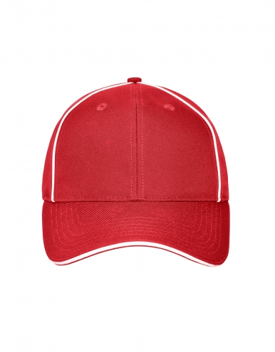 6 Panel Workwear Cap - SOLID - red