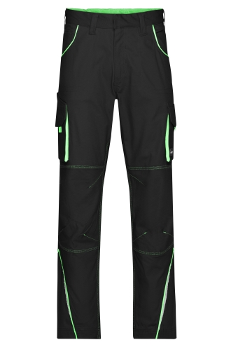 Workwear Pants - COLOR - black/lime-green