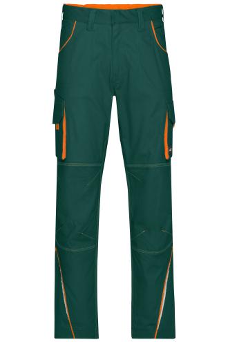 Workwear Pants - COLOR - dark-green/orange