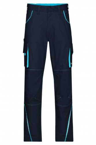 Workwear Pants - COLOR - navy/turquoise