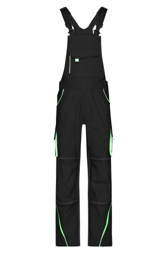 Workwear Pants with Bib - COLOR - black/lime-green
