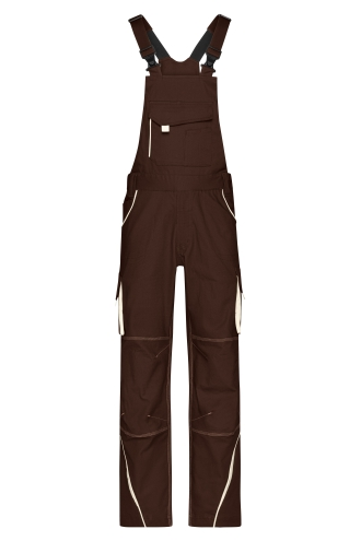 Workwear Pants with Bib - COLOR - brown/stone