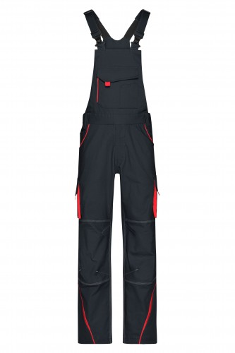 Workwear Pants with Bib - COLOR - carbon/red