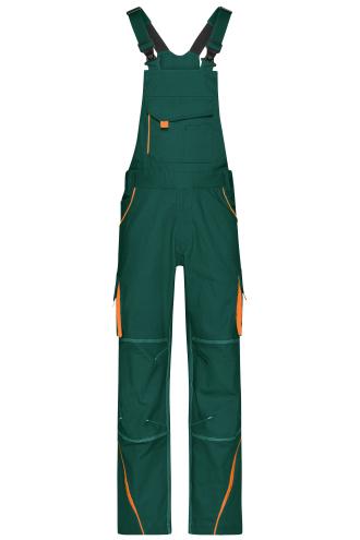 Workwear Pants with Bib - COLOR - dark-green/orange