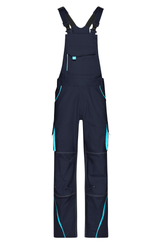 Workwear Pants with Bib - COLOR - navy/turquoise