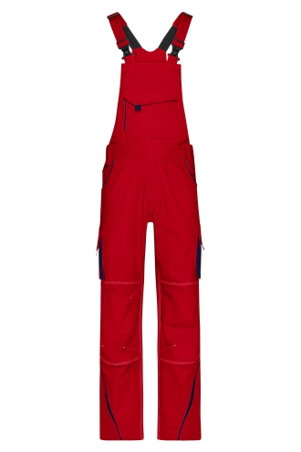 Workwear Pants with Bib - COLOR - red/navy
