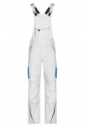 Workwear Pants with Bib - COLOR - white/royal