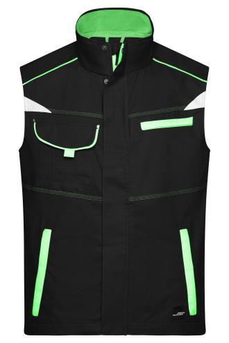 Workwear Vest - COLOR - black/lime-green