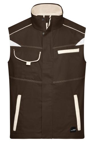 Workwear Vest - COLOR - brown/stone