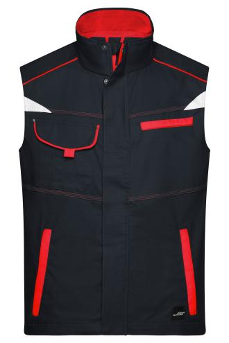 Workwear Vest - COLOR - carbon/red