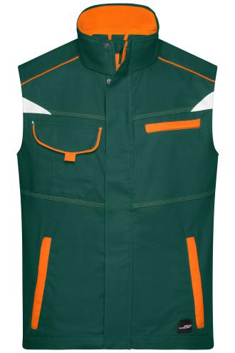 Workwear Vest - COLOR - dark-green/orange
