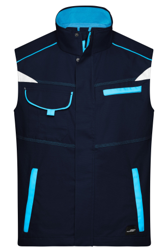 Workwear Vest - COLOR - navy/turquoise