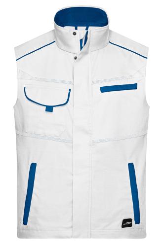 Workwear Vest - COLOR - white/royal
