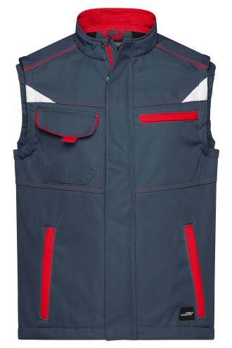 Workwear Softshell Vest - COLOR - carbon/red