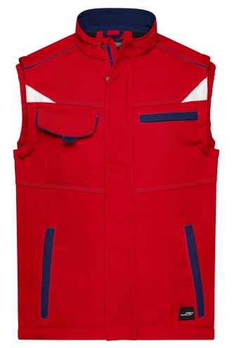 Workwear Softshell Vest - COLOR - red/navy
