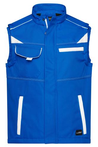 Workwear Softshell Vest - COLOR - royal/white