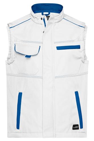 Workwear Softshell Vest - COLOR - white/royal