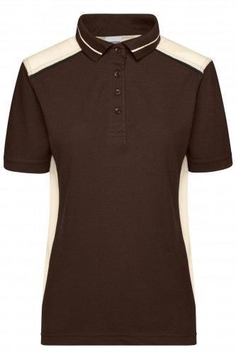 Ladies Workwear Polo - COLOR - brown/stone