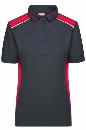 Ladies Workwear Polo - COLOR - carbon/red