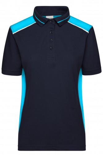 Ladies Workwear Polo - COLOR - navy/turquoise