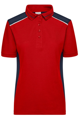 Ladies Workwear Polo - COLOR - red/navy