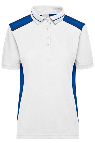 Ladies Workwear Polo - COLOR - white/royal