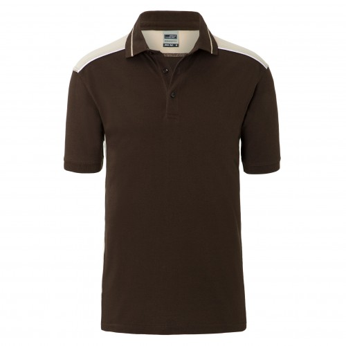 Mens Workwear Polo - COLOR - brown/stone
