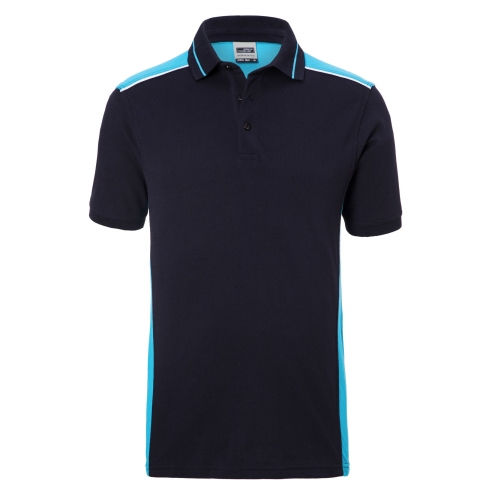 Mens Workwear Polo - COLOR - navy/turquoise