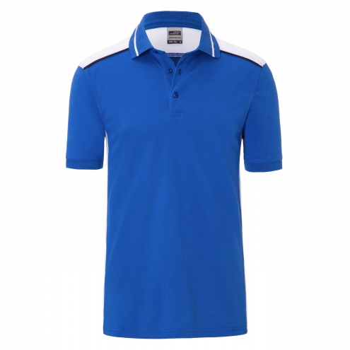 Mens Workwear Polo - COLOR - royal/white