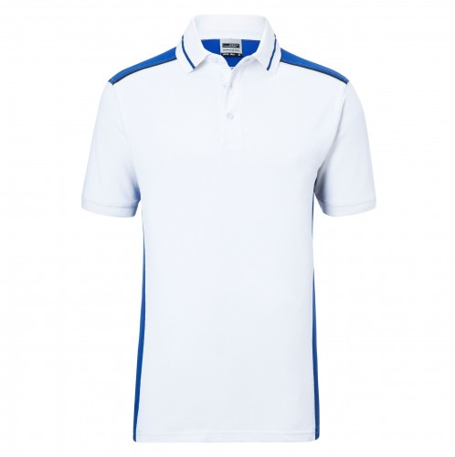 Mens Workwear Polo - COLOR - white/royal