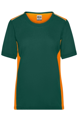 Ladies Workwear T-Shirt - COLOR - dark-green/orange