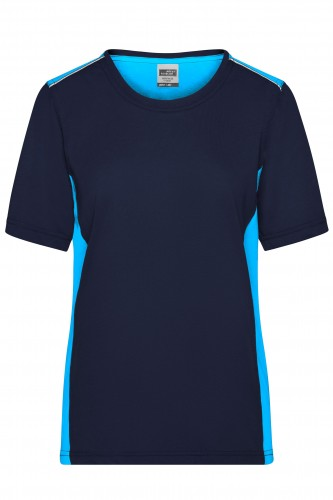 Ladies Workwear T-Shirt - COLOR - navy/turquoise