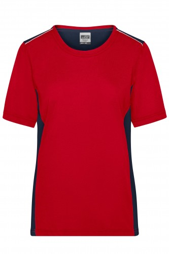 Ladies Workwear T-Shirt - COLOR - red/navy