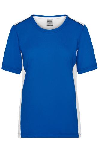 Ladies Workwear T-Shirt - COLOR - royal/white