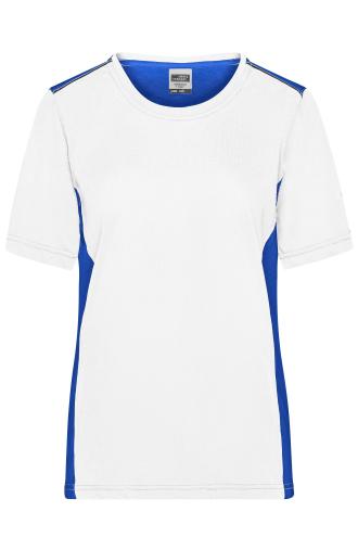 Ladies Workwear T-Shirt - COLOR - white/royal