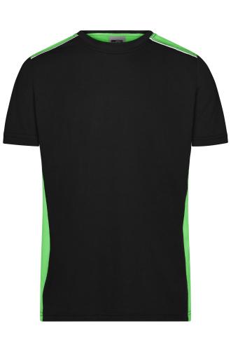 Mens Workwear T-Shirt - COLOR - black/lime-green