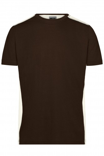 Mens Workwear T-Shirt - COLOR - brown/stone