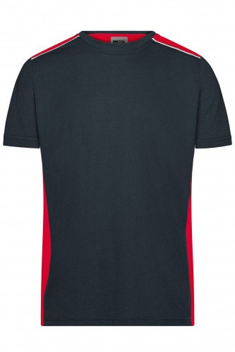 Mens Workwear T-Shirt - COLOR - carbon/red