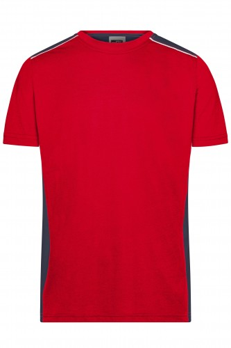 Mens Workwear T-Shirt - COLOR - red/navy