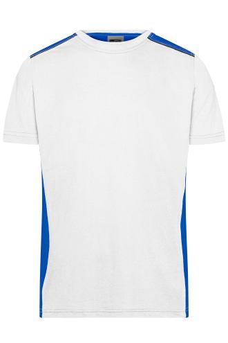 Mens Workwear T-Shirt - COLOR - white/royal