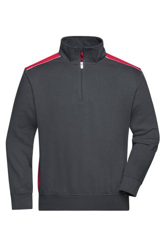 Workwear Half-Zip Sweat - COLOR - carbon/red