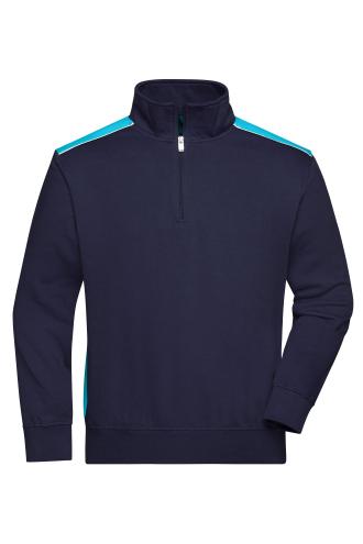 Workwear Half-Zip Sweat - COLOR - navy/turquoise