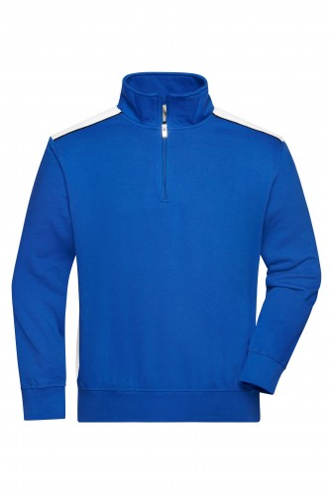Workwear Half-Zip Sweat - COLOR - royal/white