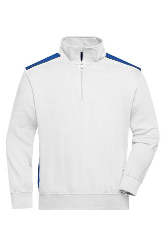 Workwear Half-Zip Sweat - COLOR - white/royal